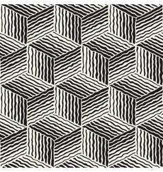Seamless geometric stripes cube pattern vector