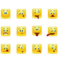 Set crazy emoticons vector image vector image