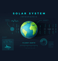 solar system infographic vector image vector image