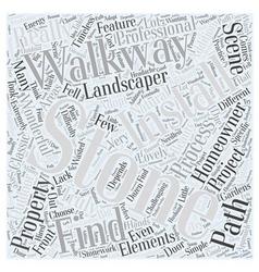 Stone walkway word cloud concept vector
