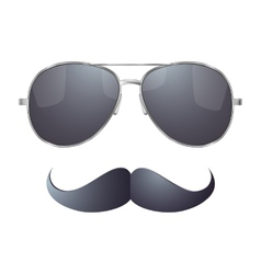 Sunglasses with mustache vector