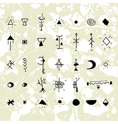 The mystical signs and symbols vector