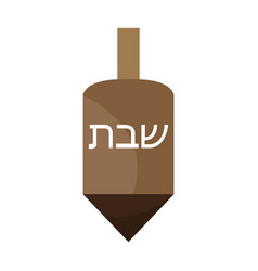 Traditional jewish dreidel vector