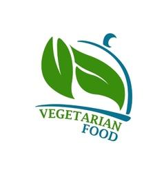 Vegetarian Restaurant symbol vector image