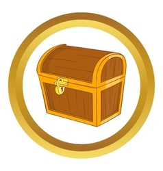 Wooden dower chest icon vector