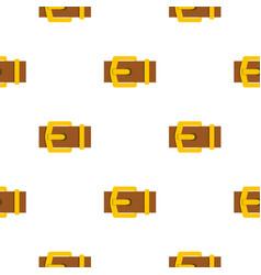 Yellow metal belt buckle pattern flat vector