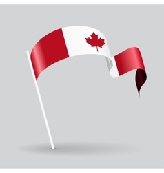 Canadian wavy flag vector image