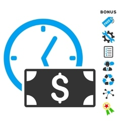 Credit flat icon with bonus vector
