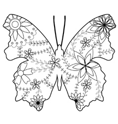 butterfly coloring vector image
