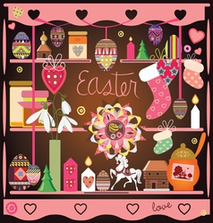 Easter elements composition vector