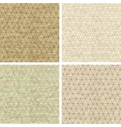 Seamless lace patterns on old paper texture vector