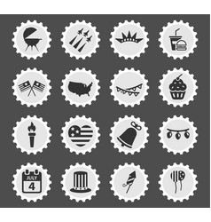 independence day simply icons vector image