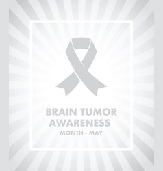 Brain tumour awareness vector