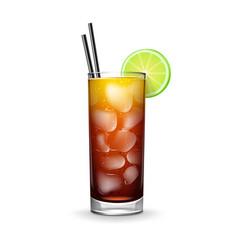 cuba libre cocktail vector image