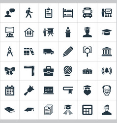 Set of simple education icons elements interactive vector