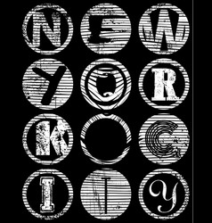 new york city typography t-shirt graphics vector image