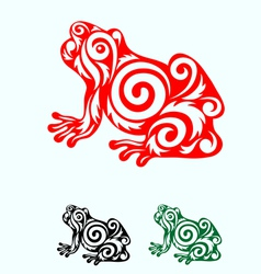Frog ornate vector