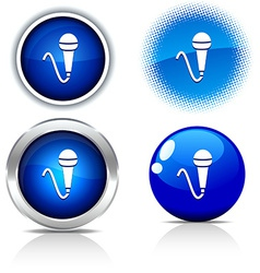 Mic buttons vector