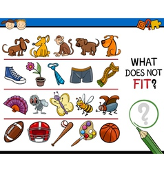 What does not fit game cartoon vector