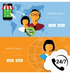 support web icon vector image
