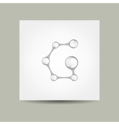Business card design with letter G vector image