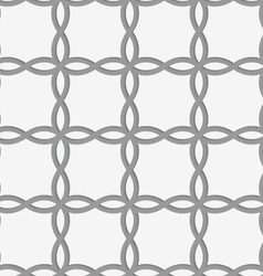 Perforated four foils forming squares vector