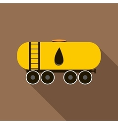 Railroad oil tank icon flat style vector