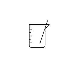 beaker line icon vector image
