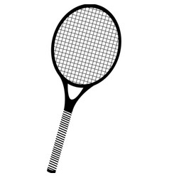 Black silhouette tennis racket element sport vector