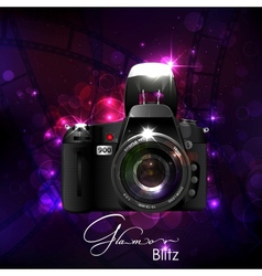 Camera in Glamour Background vector image