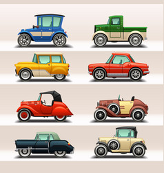 car icon set-5 vector image vector image