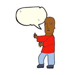 Cartoon tough man with speech bubble vector