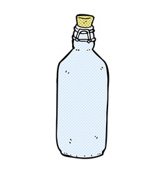 comic cartoon traditional bottle vector image vector image