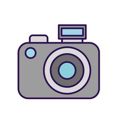 Cute grey camera cartoon vector