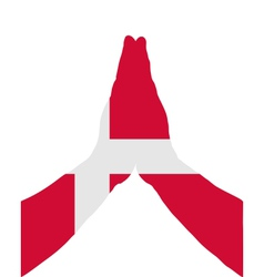 Danish pray vector image