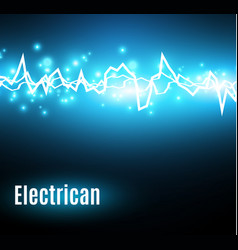 energy shock effect with many glowing particles vector image vector image