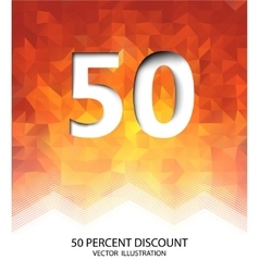 Fifty percent discount vector
