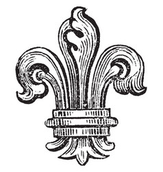 Fleur-de-lis is the bearing of the bourbons of vector