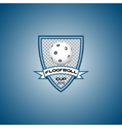 Floorball logo for the team and the cup vector image vector image