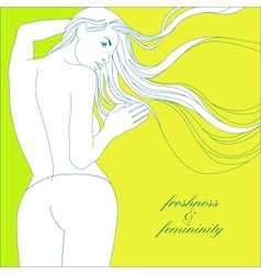 freshness and femininity vector image