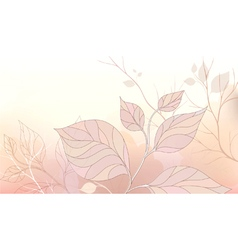 Gentle background with stylized leaves vector