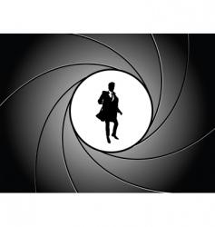 gun point vector image