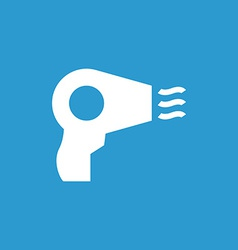 hairdryer icon white on the blue background vector image
