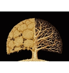 Hand drawn sketch tree environmental protection vector