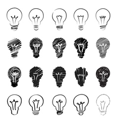 hand sketch lamps vector image vector image