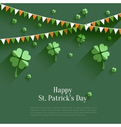Happy St Patricks Day - greeting card in flat vector image vector image