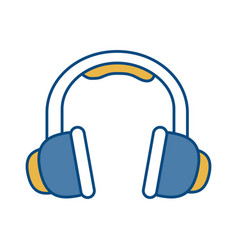 headphones icon image vector image