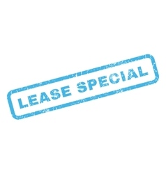 Lease special rubber stamp vector