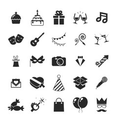 Modern trendy Isolated icons set Gift Party vector image vector image