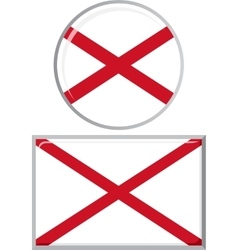 Northern ireland round and square icon flag vector
